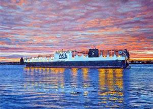 Marine art ACL Atlantic Sea
