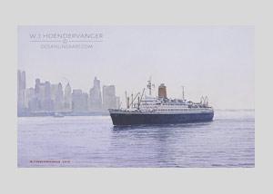 Ocean liner art ss Bremen (2)