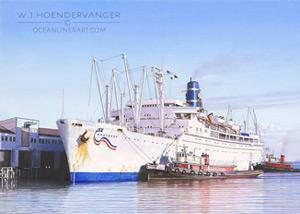 Marine art ocean liner Monterey