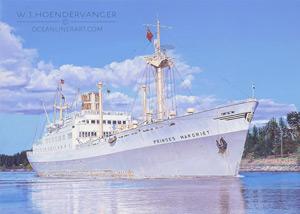 Marine art Dutch ship Prinses Margriet